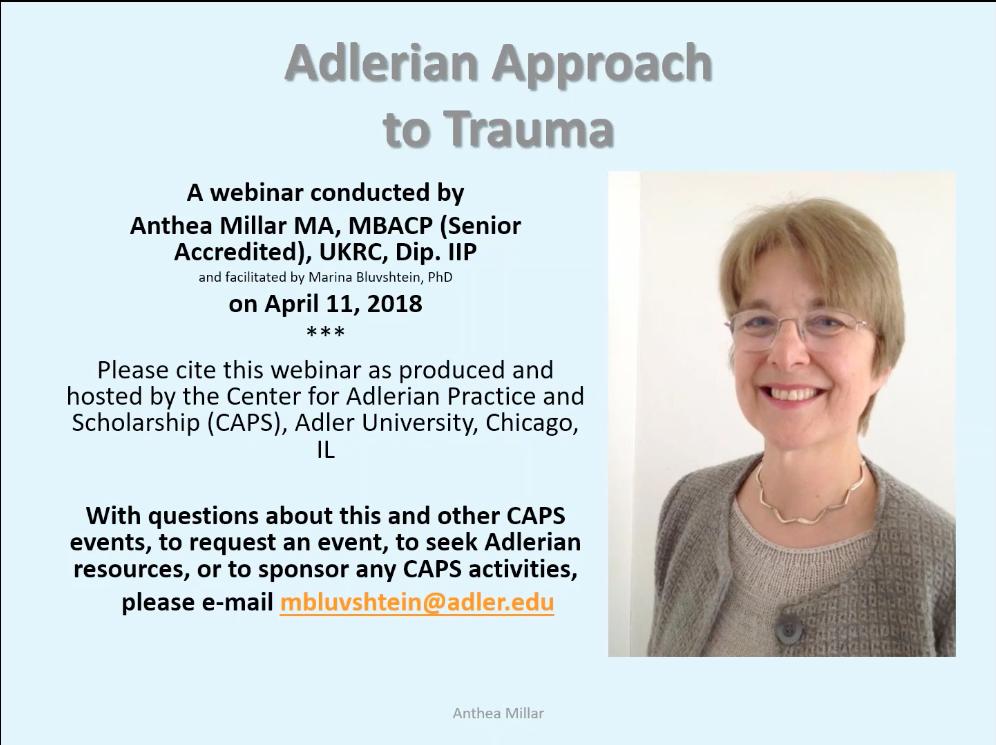 Adlerian Approach to Trauma - Alfred Adler Approach to Trauma